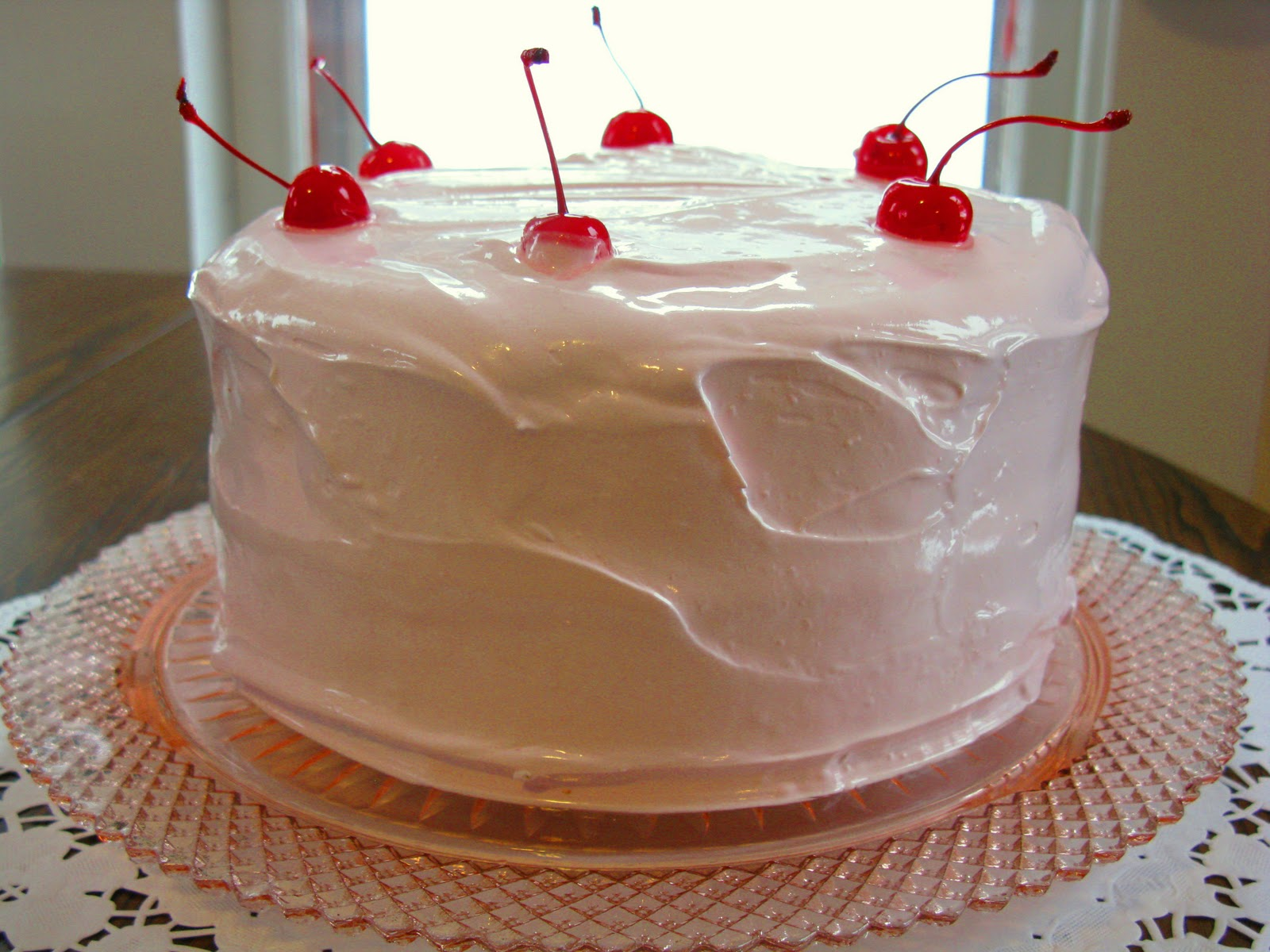Food For A Hungry Soul Maraschino Cherry Cake With Fluffy