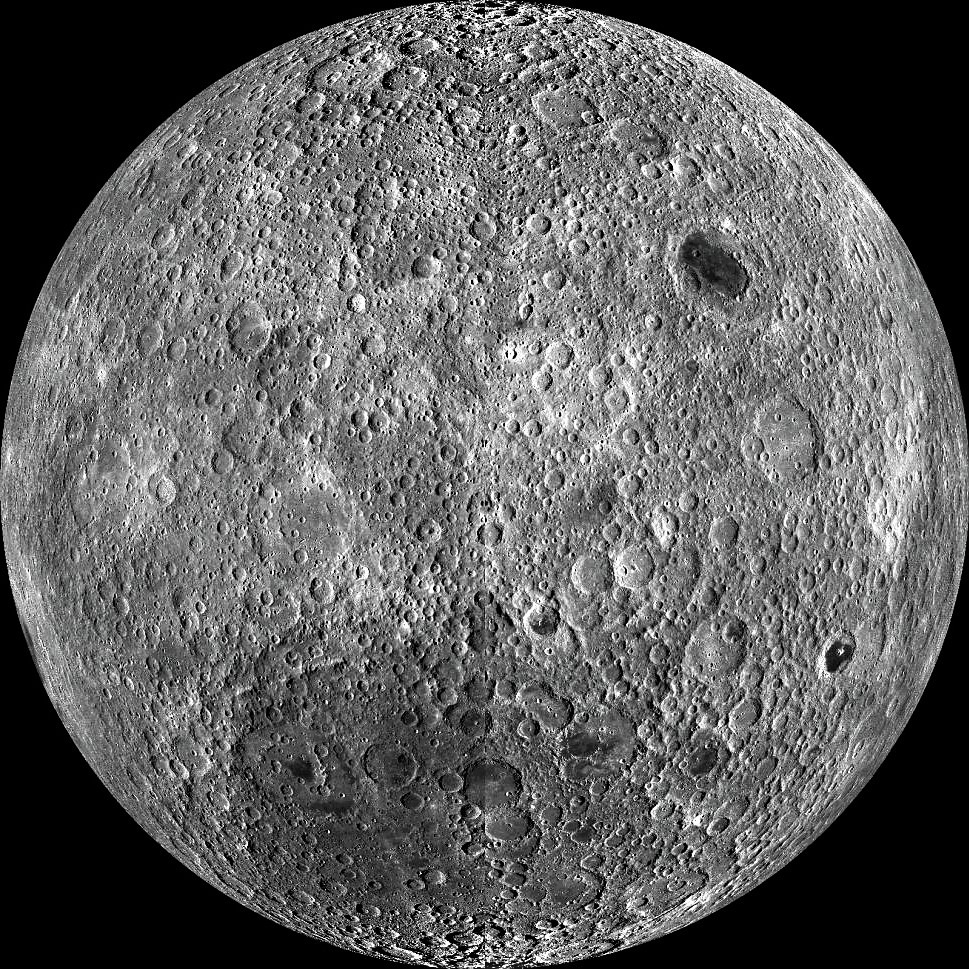 New pictures of the hidden face of the Moon.