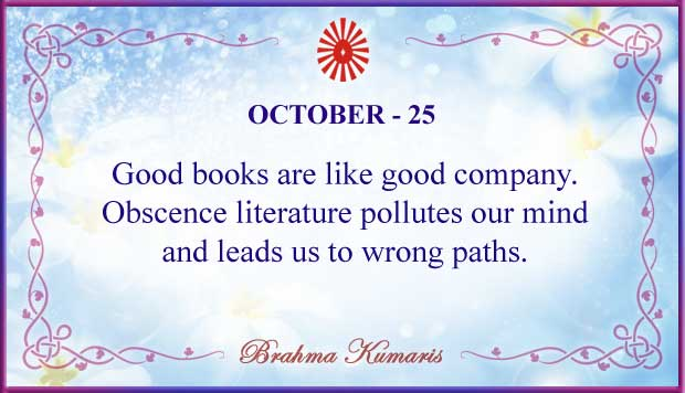 Thought For The Day October 25