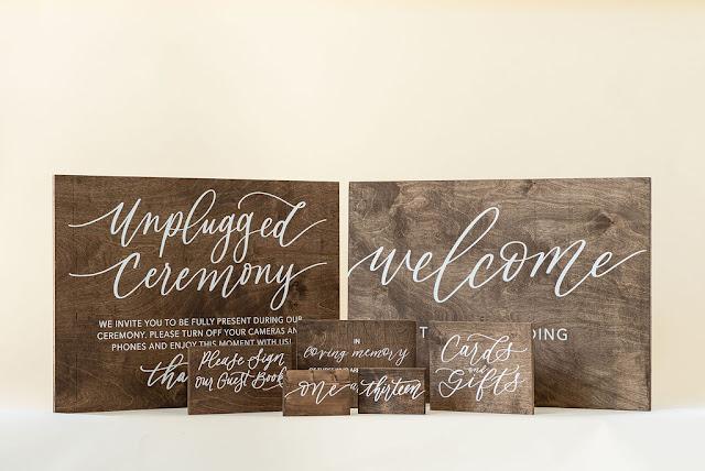 At Last Wedding + Event Design wooden signage rental