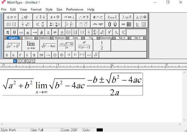 كيفية كتابة الرموز الرياضية في الوورد