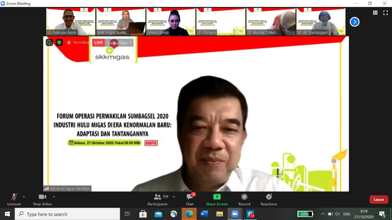 Gelar Forum Operasi, SKK Migas Sumbagsel Sosialisasikan Kegiatan Industri Hulu Migas Di Era Kenormalan Baru