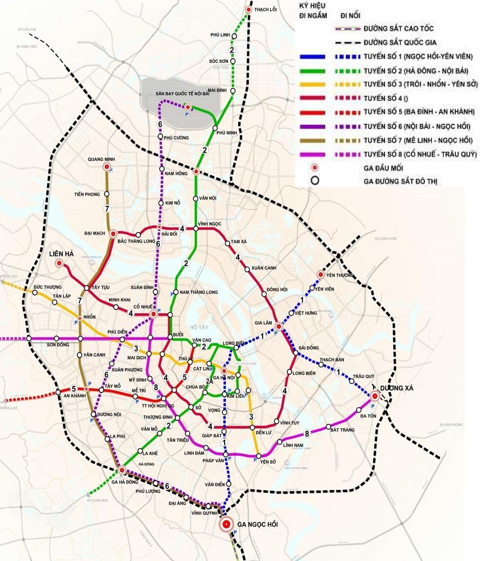 Quy hoạch mạng lưới đường sắt đô thị Hà Nội