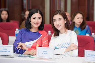 Hoa hậu Ngọc Hân hội ngộ Đỗ Mỹ Linh