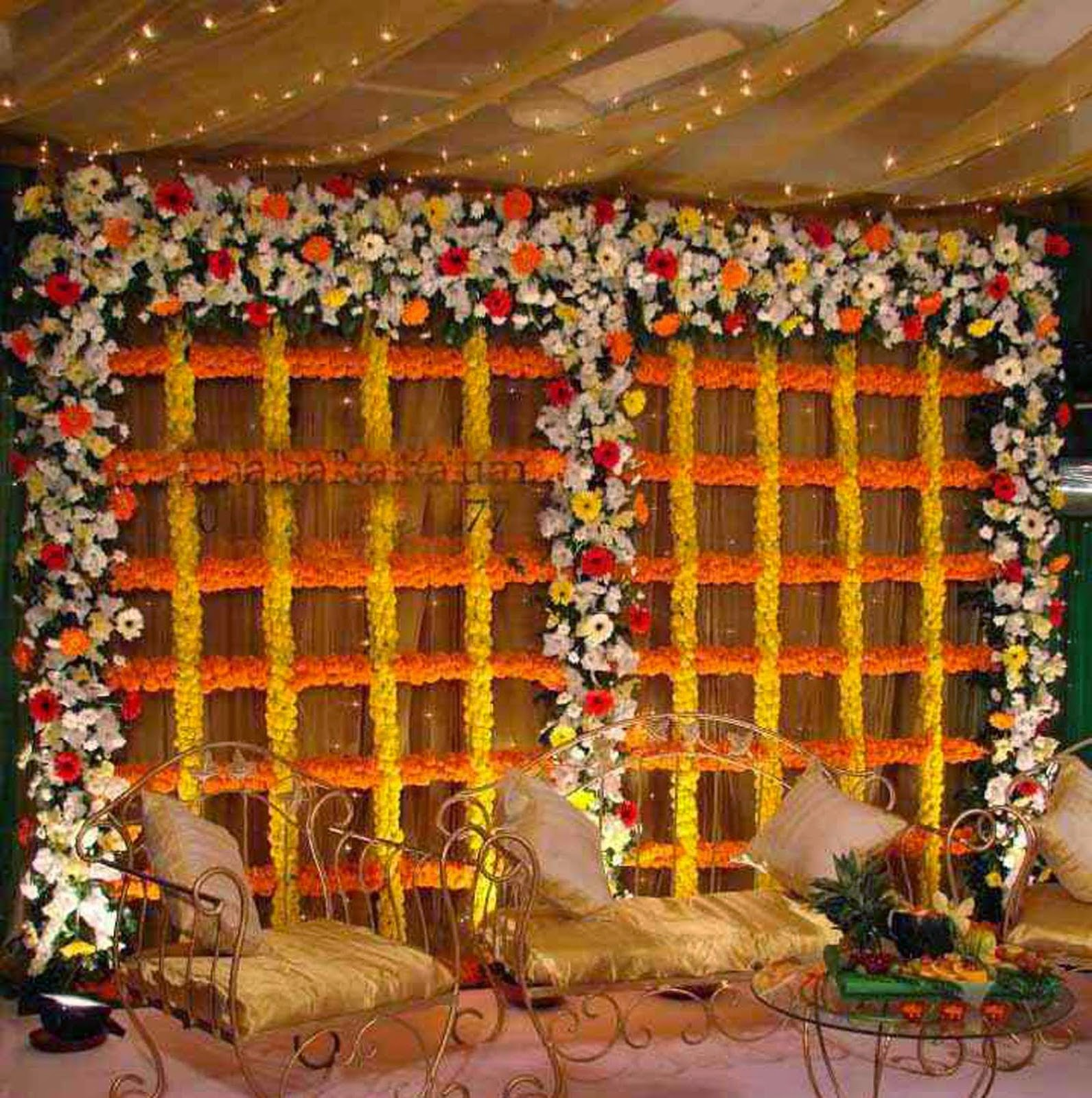 Gaye Holud Stage Design Wedding Snaps