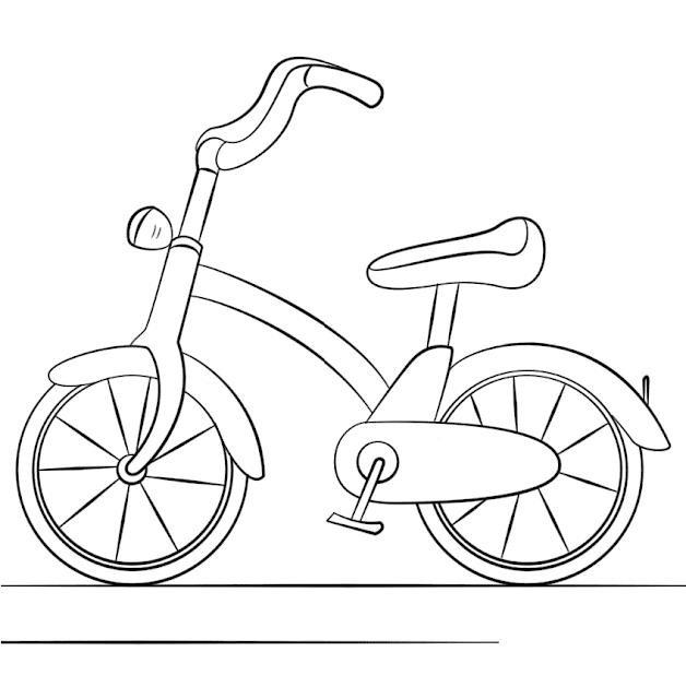 Mewarnai Gambar Sepeda