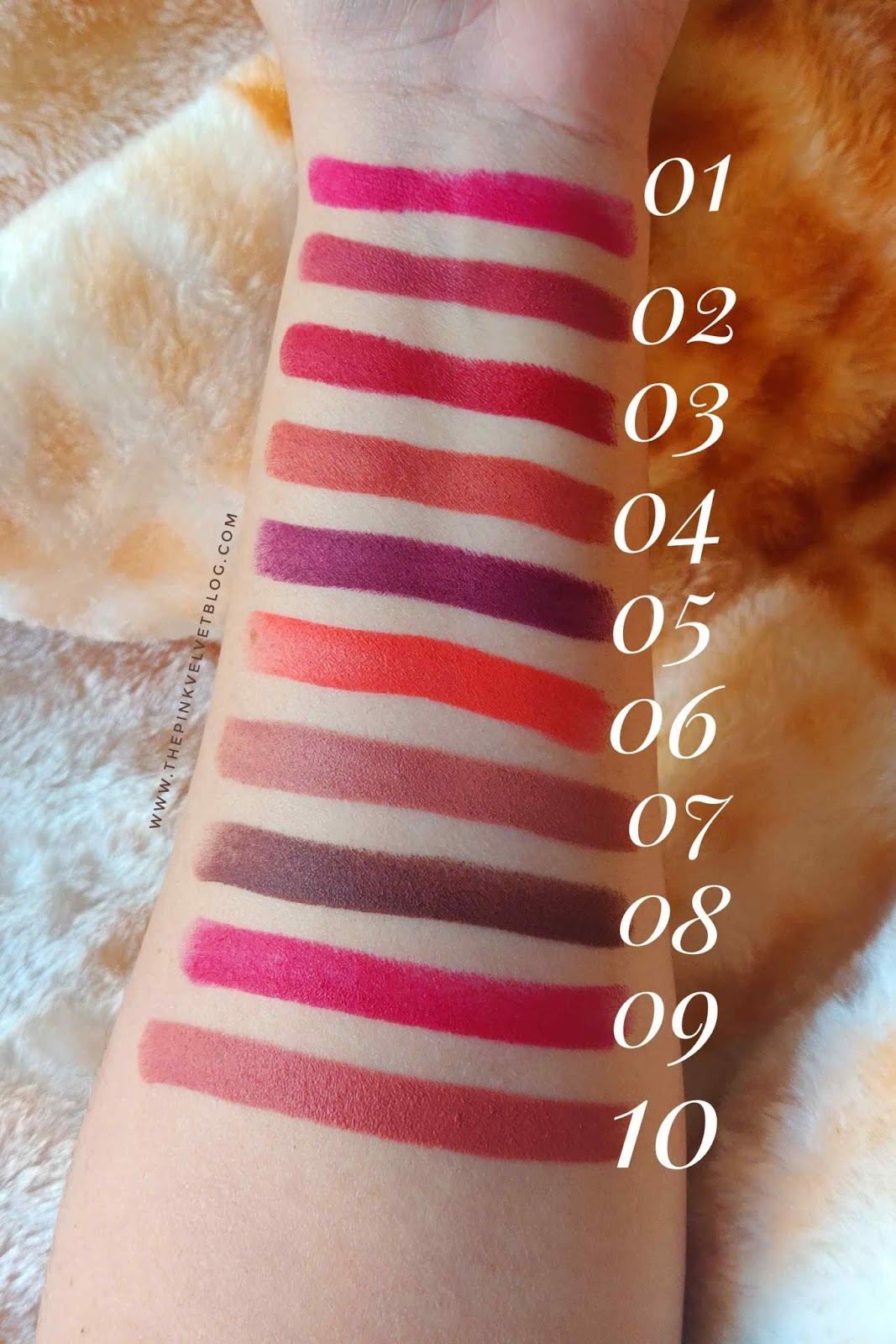 SUGAR Cosmetics Mettle Satin Lipstick - Review and Swatches - All 10 Shades