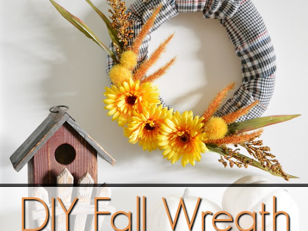Easy DIY Fall Wreath With Repurposed Flannel Shirt Sleeves