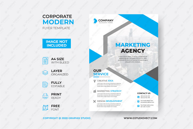 Creative Business Flyer Template Free Download
