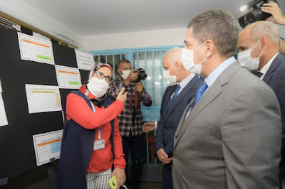 في زيارة تفقدية لاجتياز امتحانات نيل شهادة البكالوريا داخل سجن عكاشة bac 2020 corona