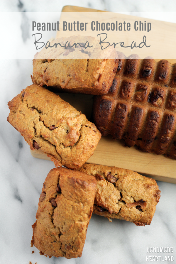Peanut Butter Chocolate Chip Banana Bread | Handmade in ...