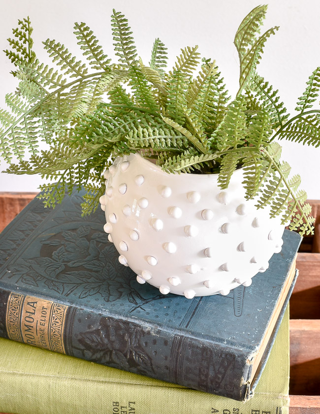 DIY Hobnail milk glass