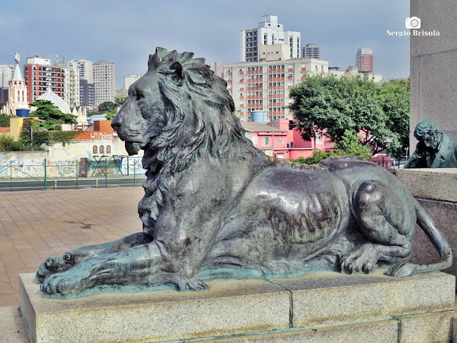 Close-up da Escultura Leão - Monumento à Independência - Ipiranga - São Paulo