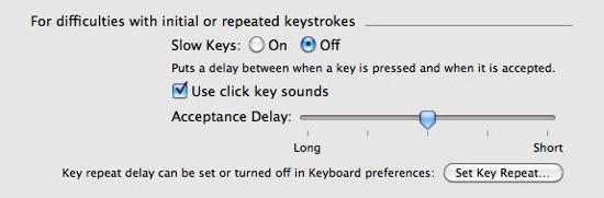 turn off slow keys
