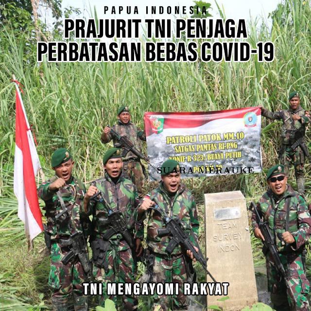 Satgas TNI di Perbatasan Bebas Covid-19