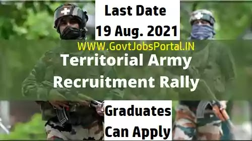 Indian Army Recruitment : Indian Army jobs for Territorial Army Officer Posts 2021