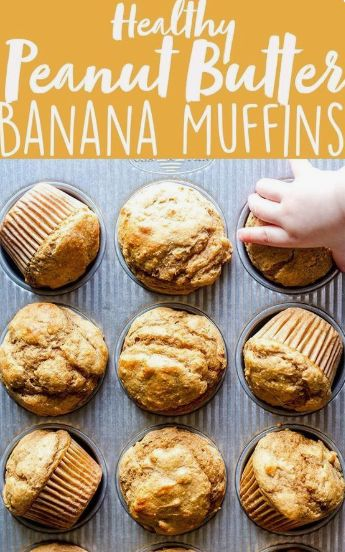 Easy Healthy Peanut Butter Banana Muffins