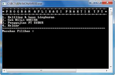 Source Code Program Aplikasi Ujian Praktikum TPT Borland C++