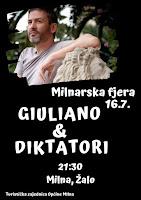 Koncert Giuliano i Diktatori Milna slike otok Brač Online