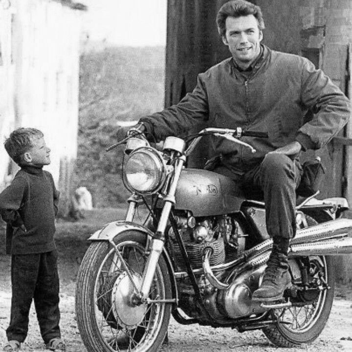 Image result for clint eastwood  riding a bicycle