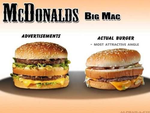 McDonald's burgers