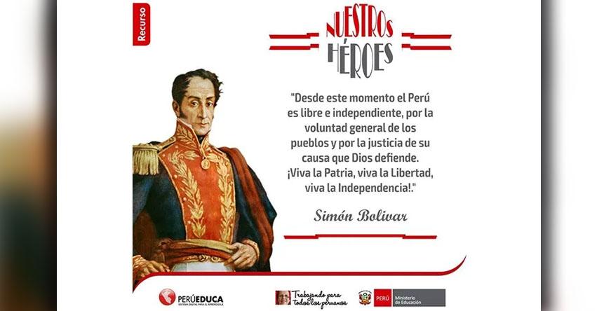 INCREÍBLE: Según el Minedu Simón Bolívar proclamó la independencia del Perú