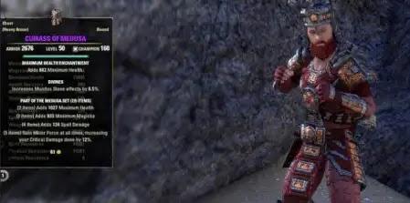 Elder Scrolls Online,Medusa Set,Medusa Set Stats And Usage,