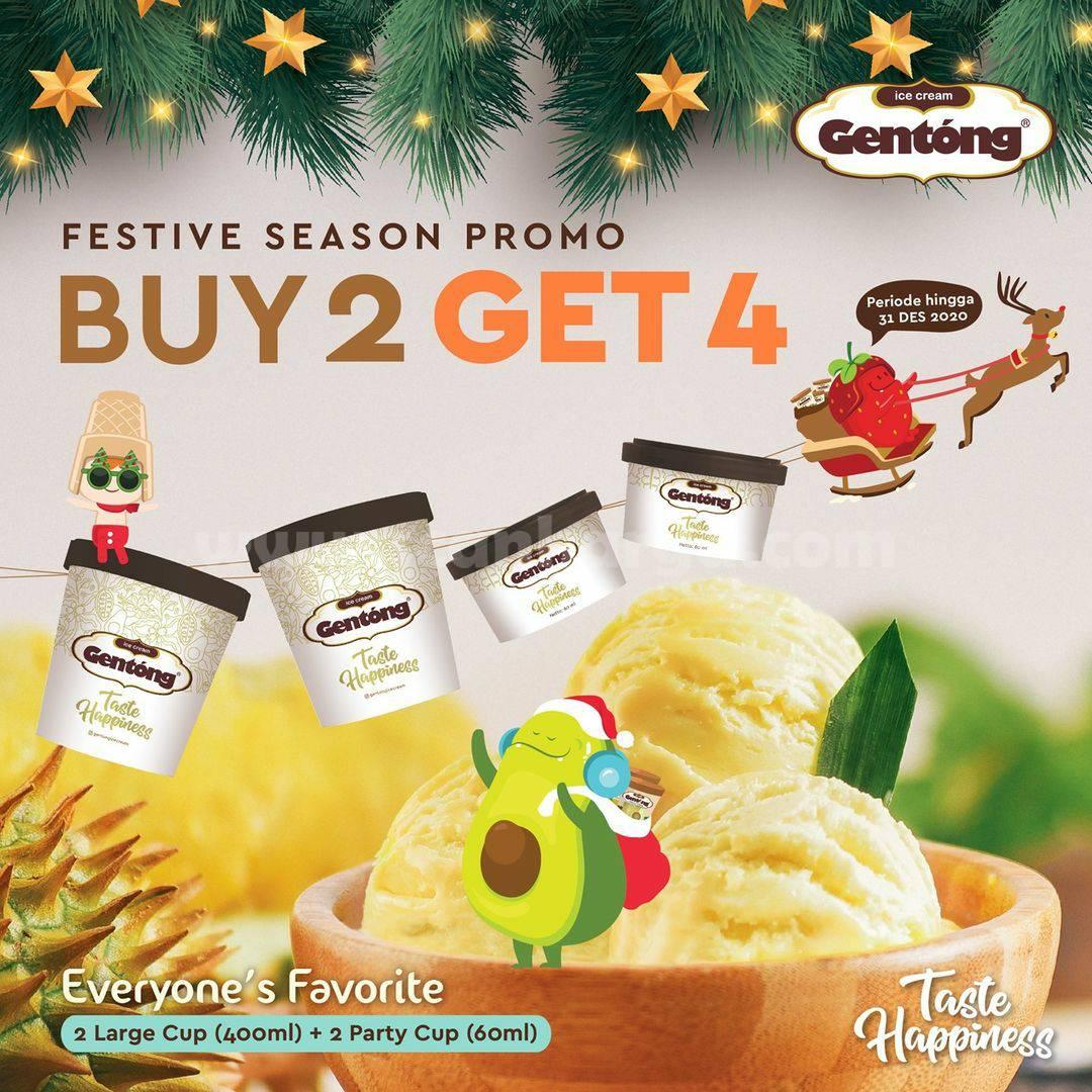Promo Ice Cream Gentong Festive Season – Beli 2 Dapat 4 untuk Semua Rasa