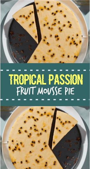 Tropical Passion Fruit Mousse Pie