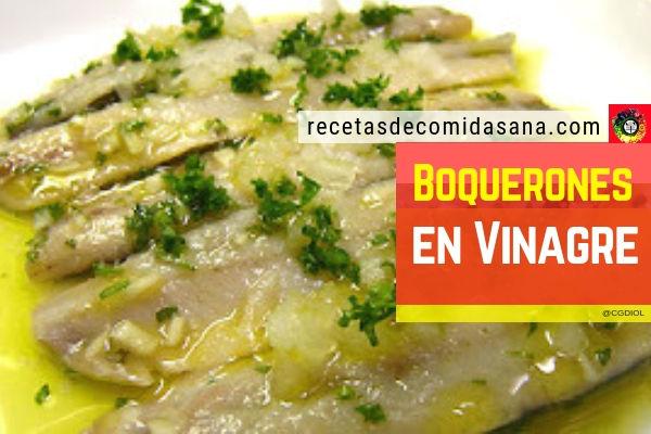 Receta de boquerones en vinagres blancos en cocina sana para 4 a 6 personas