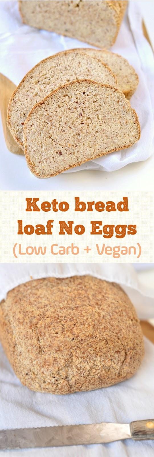 Low Carb Keto bread loaf No Eggs