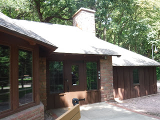 CCC built stone lodge at Stone Park in Sioux City Iowa