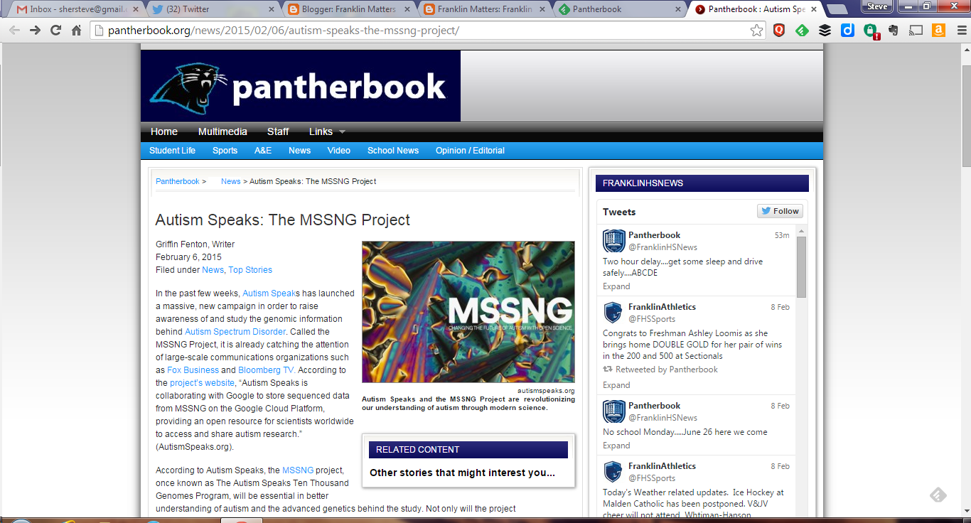 screen grab of pantherbook webpage