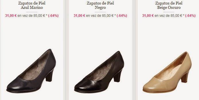 Algunos de los modelos disponibles de zapatos de tacones