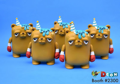 Designer Con 2019 Exclusive The Bearchamp F*ck Cake Custom Vinyl Figures by Jenn Bot x JC Rivera x UVD Toys