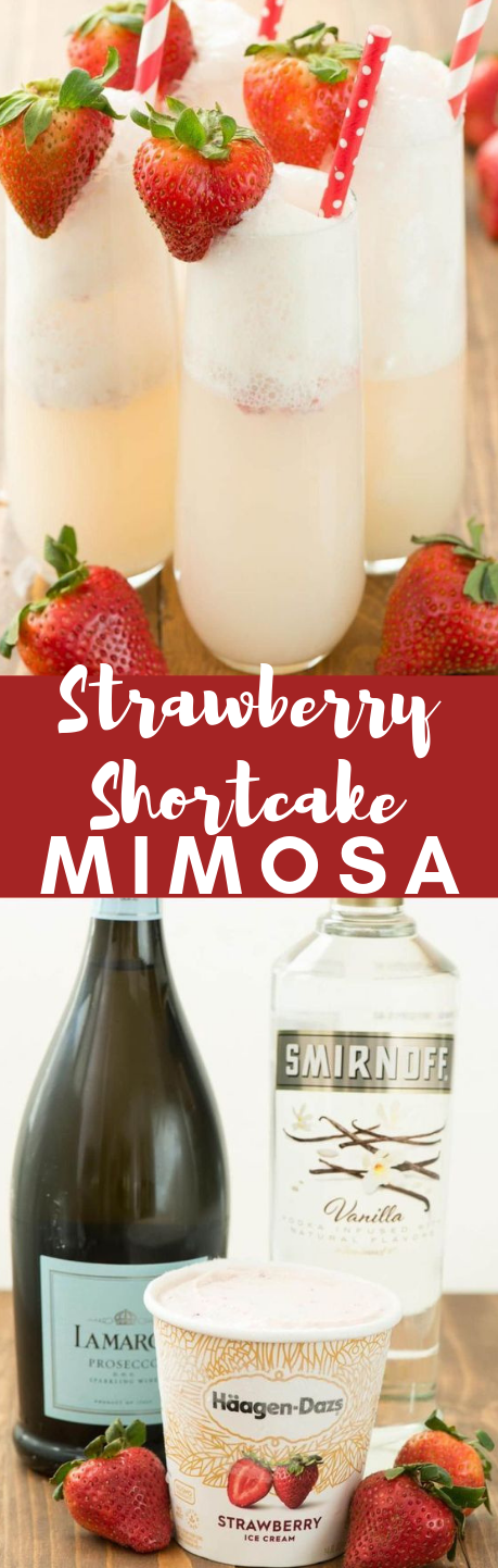 STRAWBERRY SHORTCAKE MIMOSA #strawberry #drink
