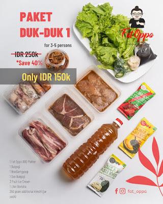 Paket Ramadhan Korean BBQ Fat Oppa Bandung