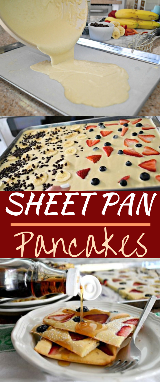 Sheet Pan Pancakes #cake #easy