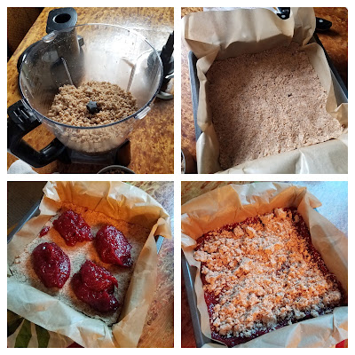 How to make easy and delicious Whole Wheat Jam Crumble Bars.