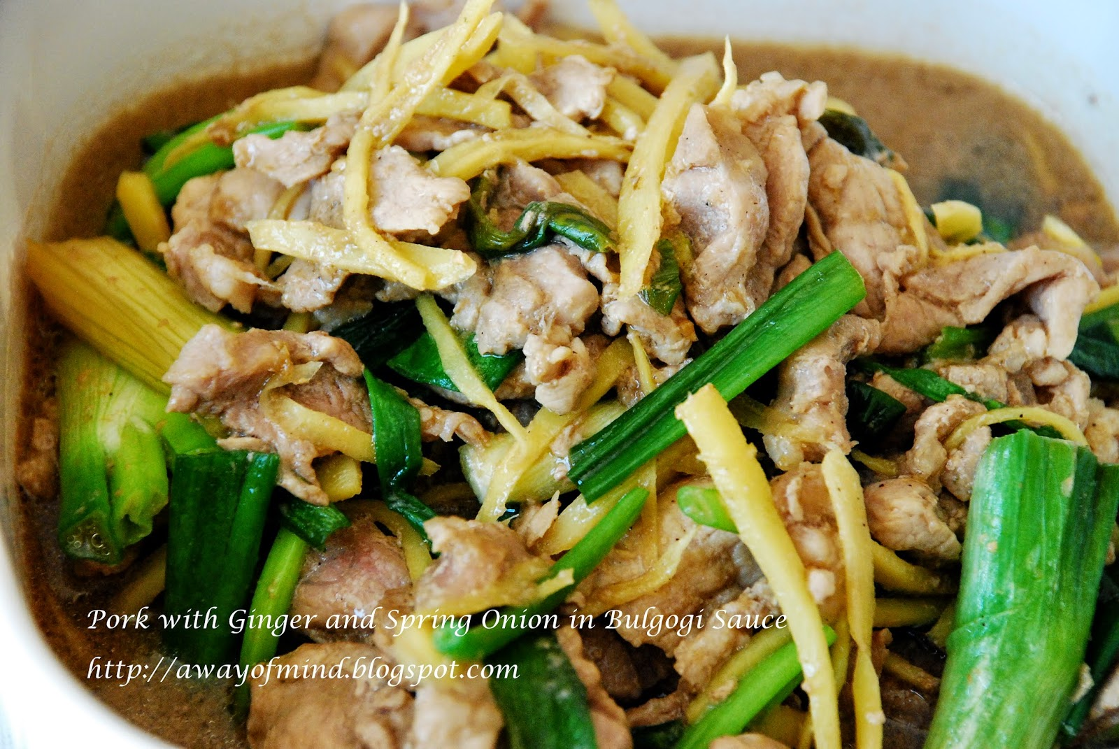 Awayofmind Bakery House: Pork with Ginger and Spring Onion ...
