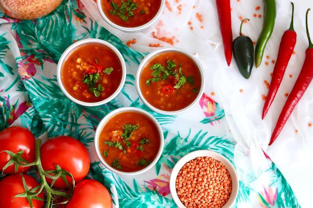 🍲 pyszna zupa z soczewicy z pomidorami i garam masalą