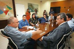 Belivaldo e Associação Brasileira da Indústria de Hoteis de Sergipe debatem sobre o turismo no estado