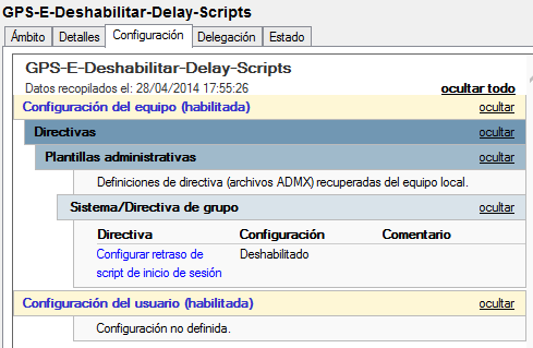 GPO: Retraso en la ejecución de scripts sobre Windows 8.1