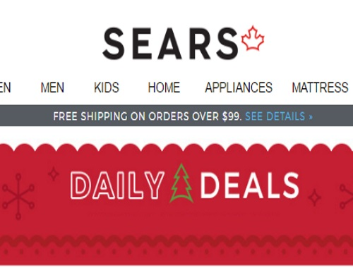 Sears Holiday Daily Deals