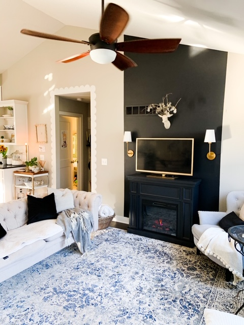 vaulted ceiling fireplace