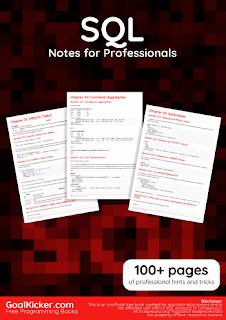 SQL Notes for Professionals PDF