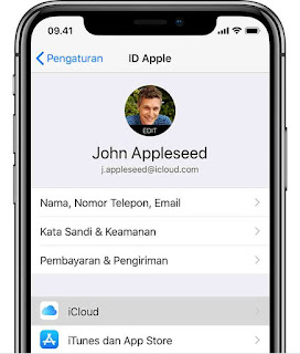 Pengaturan apple id