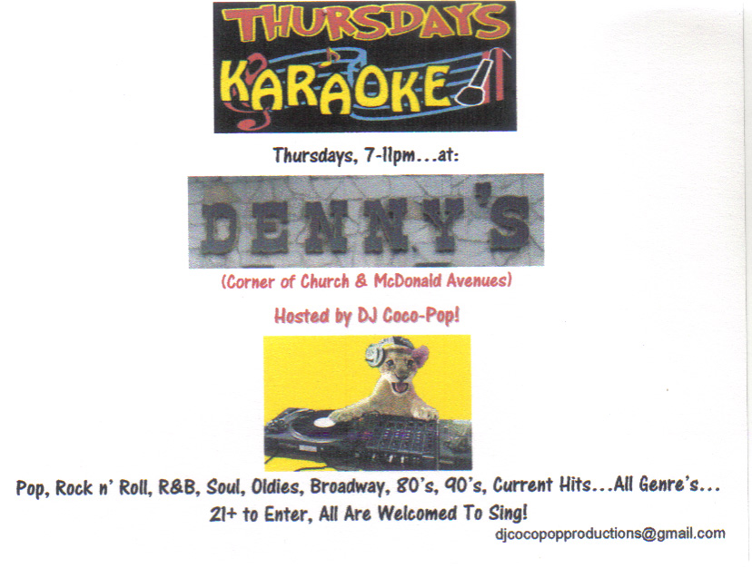 karmabrooklyn blog belt out a tune at denny s