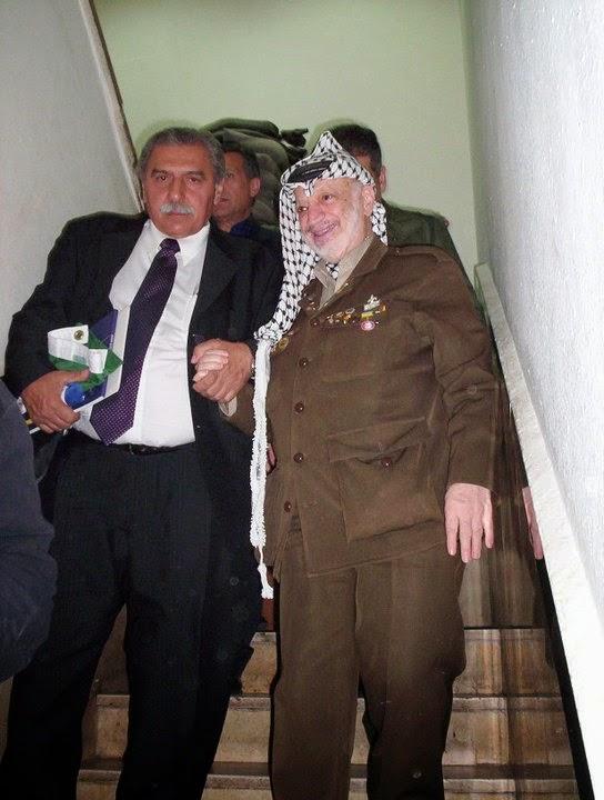 Deputado Jamil Murad com Yasser Arafat