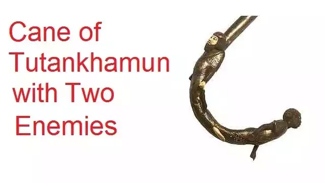Cane of Tutankhamun with Two Enemies